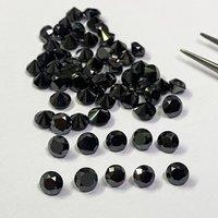 5mm Black Diamond Faceted Round Loose Gemstones
