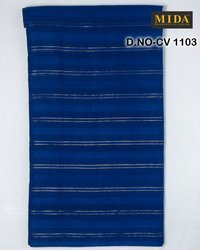 Jari Strip Jacquard Cotton Voile Fabric