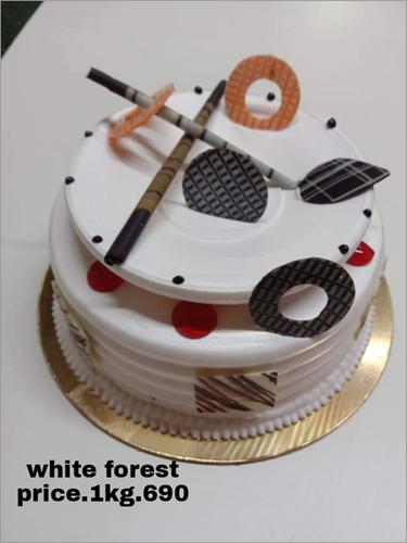1KG White Forest Cake
