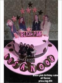 Black Pink Birthday Cake