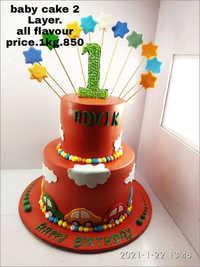 Baby 2 Layer Cake