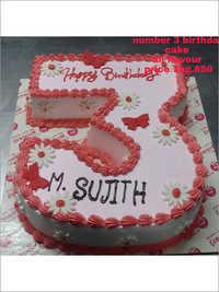 Number 3 Birthday Cake