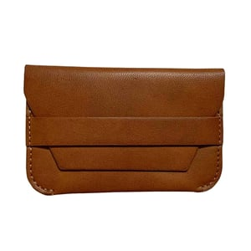KM Dezin Men's Casual Brown Genuine Leather Visiting Card Holder ( Set of 1 Pc )