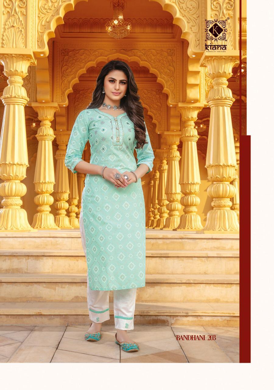 Kiana Bandhani Vol 2 Rayon Cotton Kurti With Bottom Catalog