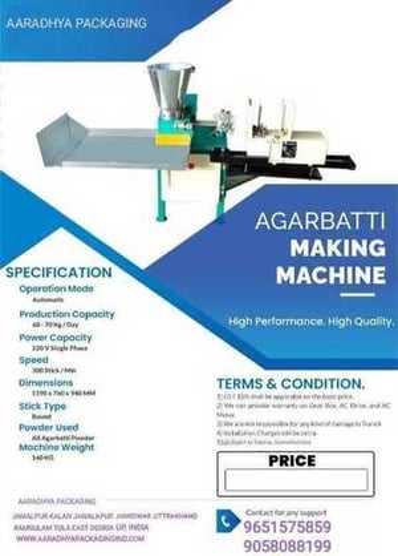 Heavy duty agarbatti meking Machine