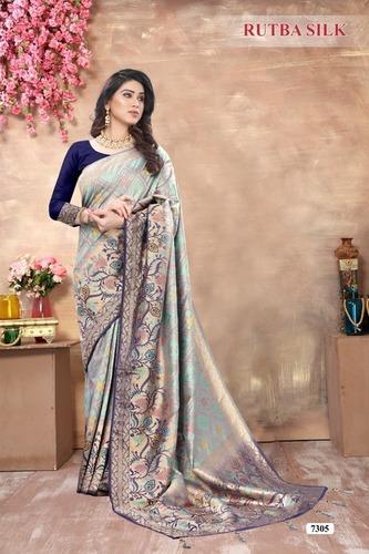 Stylish Jacquard Banarasi Patola Soft Silk Saree