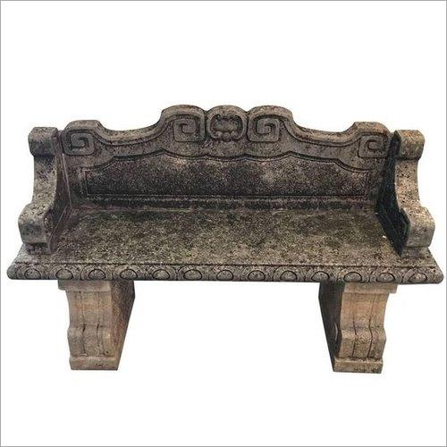 Antique Stone Garden Bench