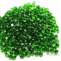 2.5mm Chrome Diopside Faceted Round Loose Gemstones