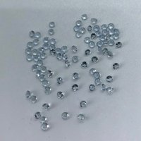 2.5mm Aquamarine Faceted Round Loose Gemstones