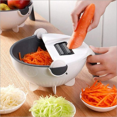 6 In 1 Bowl Slicer Multi Function Rotate Vegetable Cutter With Drain