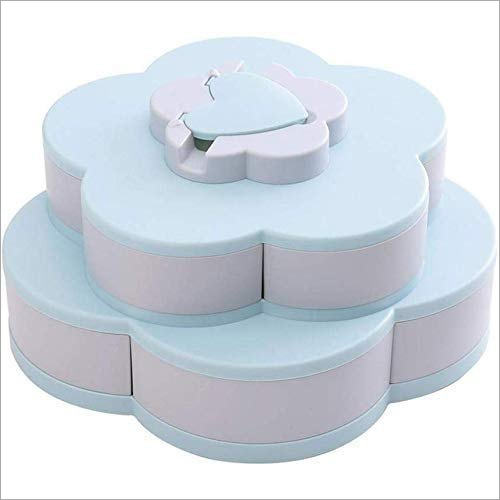 10 Grid Candy Snack Storage Flower Shape Rotating Box With Phone Mount Stand