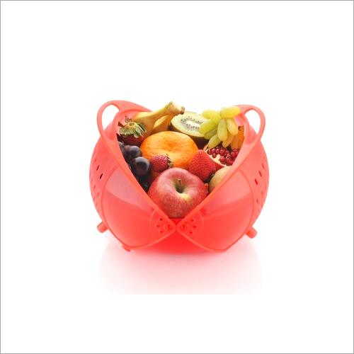 Plastic Vegetable Fruit Rinse Bowl and Strainer Cum Basket