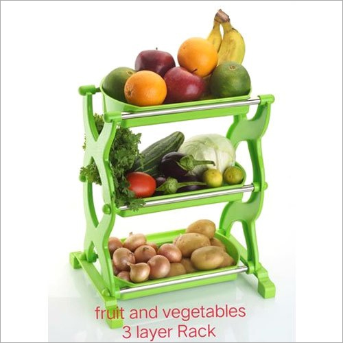Plastic 3 Layer Fruit And Vegetable Rack