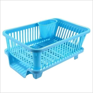 3 In 1 Large Durable Plastic Kitchen Sink Dish Rack Drainer Drying Rack Washing