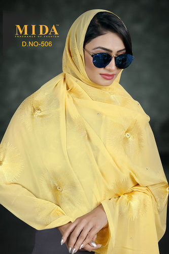 African women embroidered hijab scarf