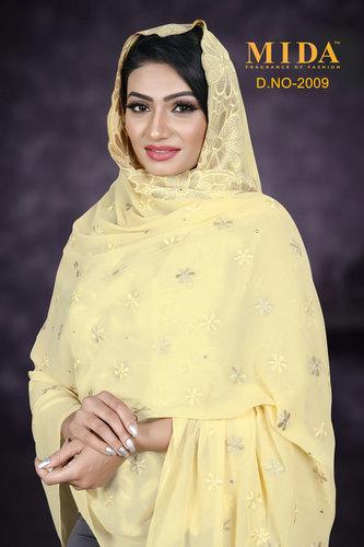 Dubai Style Embroidered Scarves