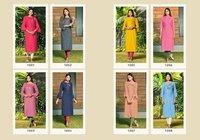 Vishwa Heavy Soft Cotton Slub With Print Embroidery Work Kurtis