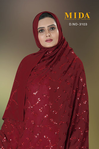 Nigerian Muslim Women Sequins Veil