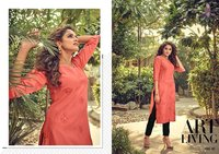 Asiana Vol-4 Cotton Slub With Embroidery & Mirror Work With Designer Sleeve