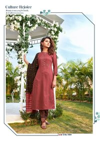 Aarohi Vol 4 Designer Chinon Lining With Embroidery Work Kurtis