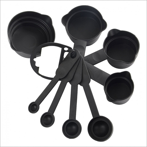 8 Pcs Black Spoon Set