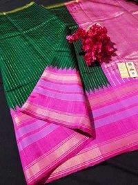 Pure Dupion Raw Silk Handloom Saree
