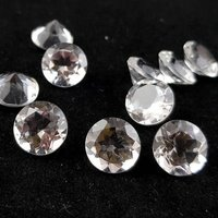 Crystal Quartz Faceted