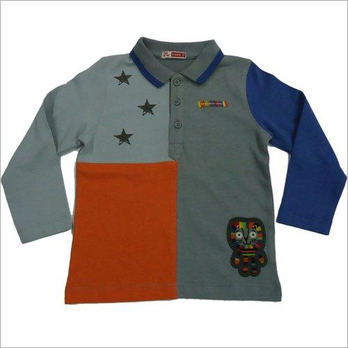 Boys Full Sleeves Collar Neck T-Shirts