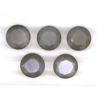 5mm Gray Moonstone Faceted Round Loose Gemstones