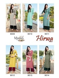 Hirwa Vol 2 Designer Daily Wear Dobby Rayon 17 Kg With Embroidery Work Kurtis