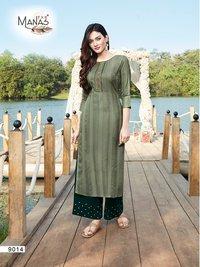 Hirwa Vol 2 Designer Daily Wear Dobby Rayon 17 Kg With Embroidery Work Kurtis