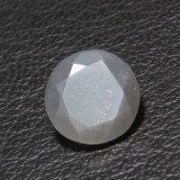 6mm Gray Moonstone Faceted Round Loose Gemstones