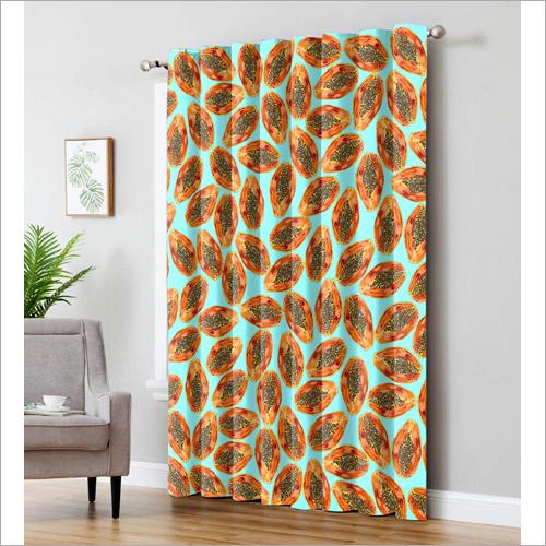 Pastel Papaya Curtain