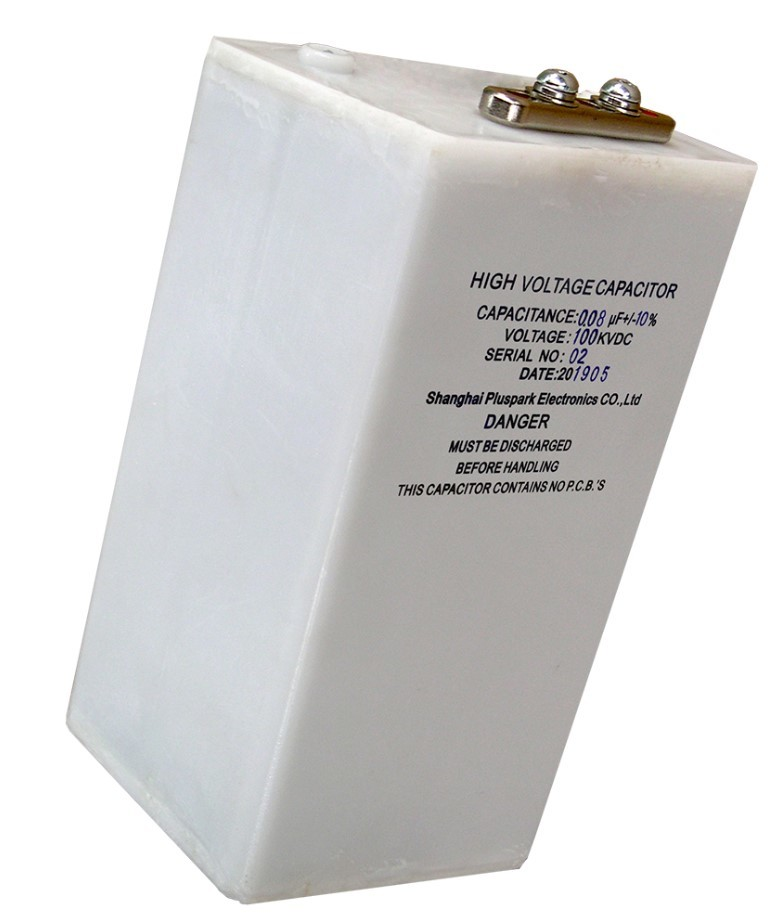 HV capacitor 0.08MFD 100KV 80nF high voltage pulse capacitor Pluspark