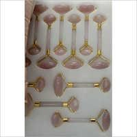 Pink Rose Quartz Face Massager Roller