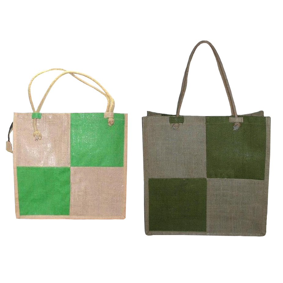 Pp Laminated Jute Bag With Cotton Cord Handle