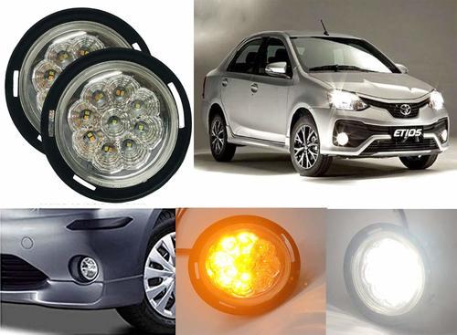 Car Bumper Led car Fog Light With indicator for Toyota Etios Liva, Etios