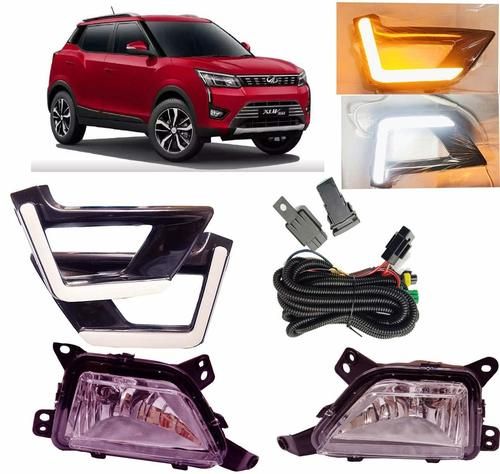 Car Fog Light With DRL Day Running Light with indicator For New Mahindra XUV300