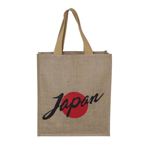 Web Handle Logo Print Design Pp Laminated Jute Tote Bag