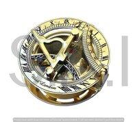 Nautical Brass Round Sundial Compass 2.25