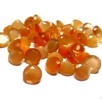 7mm Peach Moonstone Faceted Round Loose Gemstones