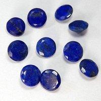 10mm Lapis Lazuli Faceted Round Loose Gemstones