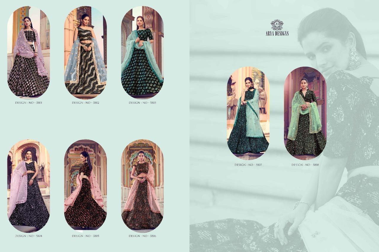 Sequence Work Lehenga