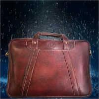 Plain Executive Leather Laptop Bag