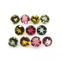 3.5mm Multi Tourmaline Faceted Round Loose Gemstones