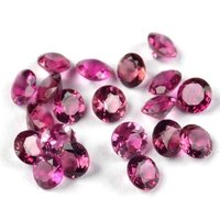 4mm Pink Tourmaline Faceted Round Loose Gemstones