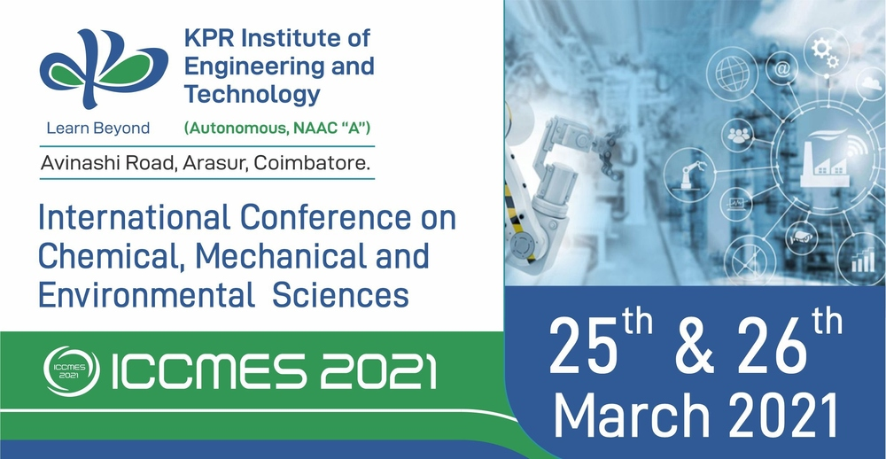 International Conference on Chemical, Mechanical and Environmental Sciences