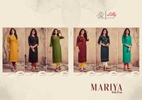 Mariya Women's Wear Pure Rayon Embroidery Kurtis With Pant