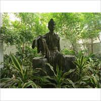 Black FRP Budhha Statue