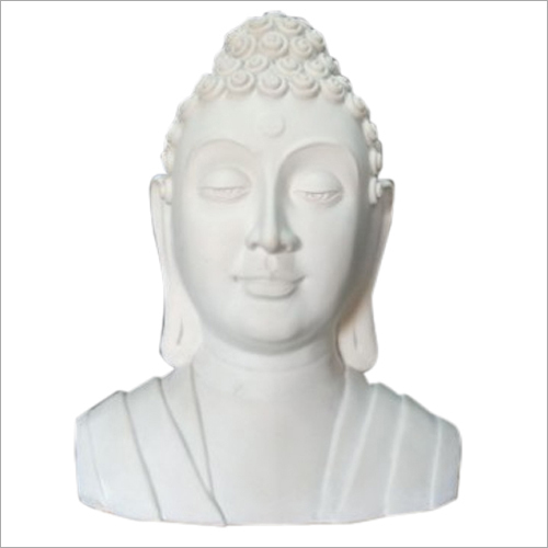 White FRP Buddha Face Statue